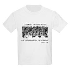 The Road Less Traveled Sled D Kids T-Shirt
