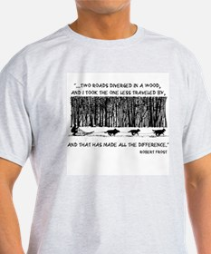 The Road Less Traveled Sled D T-Shirt