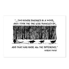 The Road Less Traveled Sled D Postcards (Package o
