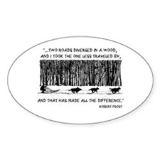 The Road Less Traveled Sled D Oval Decal