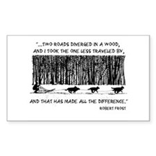 The Road Less Traveled Sled D Sticker (Rectangular