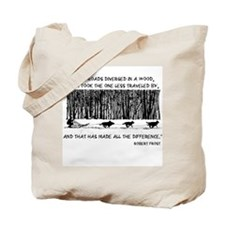 The Road Less Traveled Sled D Tote Bag