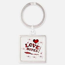 love_bites Square Keychain