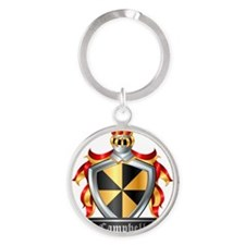 CAMPBELL COAT OF ARMS FAMILY CREST Round Keychain