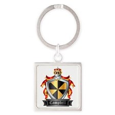 CAMPBELL COAT OF ARMS FAMILY CREST Square Keychain