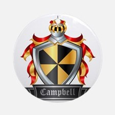 CAMPBELL COAT OF ARMS FAMILY CREST Round Ornament