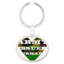 Army Issued Husband Oval Keychain