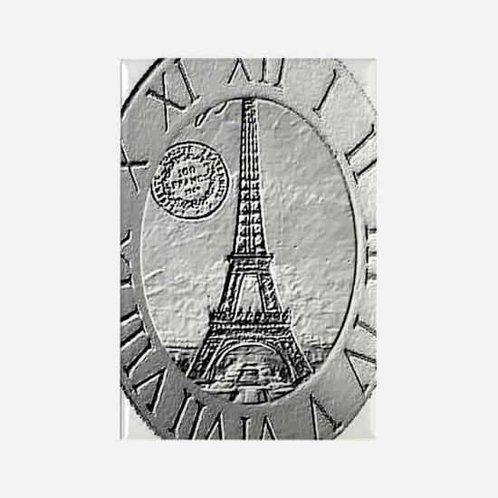 paris wall clock Rectangle Magnet