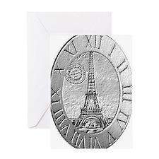 paris wall clock Greeting Card