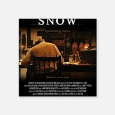 "Snow Movie Poster (Medium) Square Sticker 3"" x 3"""