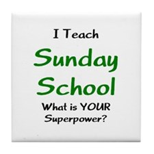 teach sunday school Tile Coaster
