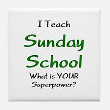 teach sunday school Tile Coaster