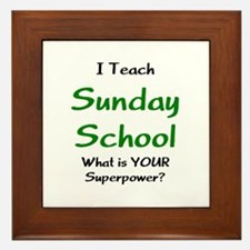 teach sunday school Framed Tile