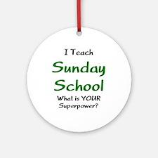 teach sunday school Ornament (Round)