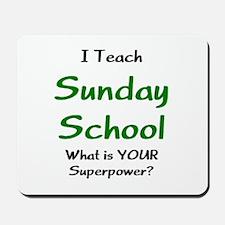 teach sunday school Mousepad