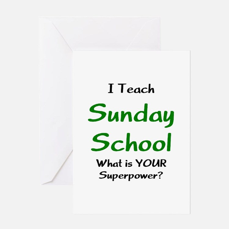 teach sunday school Greeting Card