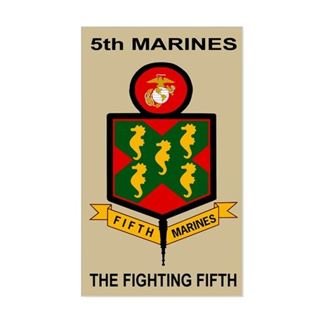 5th Marine Regiment<BR>Sticker