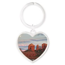 moon rise_text Heart Keychain