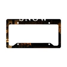 Snow Mouse Pad License Plate Holder