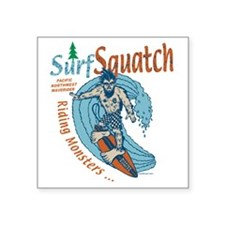 "surfsquatch Square Sticker 3"" x 3"""
