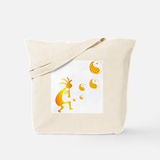 Kokopelli with Yin Yang Tote Bag