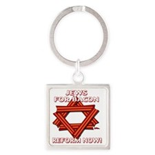 jews-for-bacon-2012-a Square Keychain