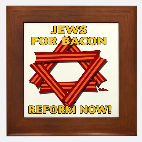 jews-for-bacon-2012-b Framed Tile