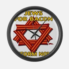 jews-for-bacon-2012-b Large Wall Clock