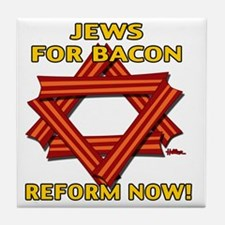 jews-for-bacon-2012-b Tile Coaster
