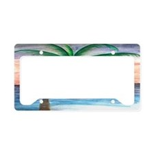 Sunset palm License Plate Holder