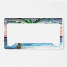 Sunset palm License Plate Holder