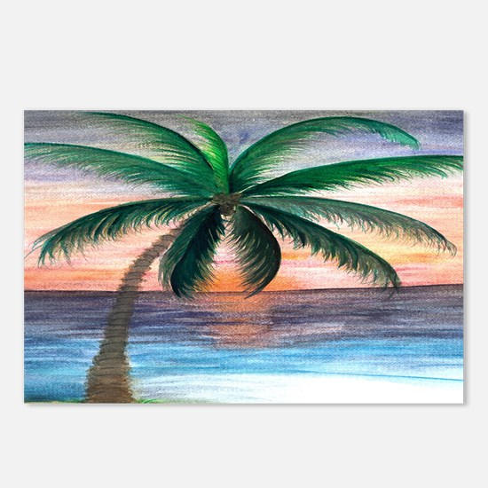 Sunset palm Postcards (Package of 8)