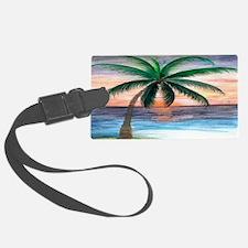 Sunset palm Luggage Tag