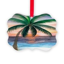 Sunset palm Ornament