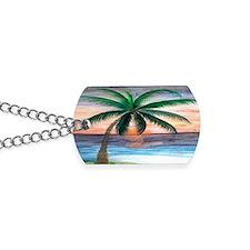 Sunset palm Dog Tags