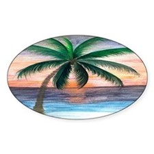 Sunset palm Decal