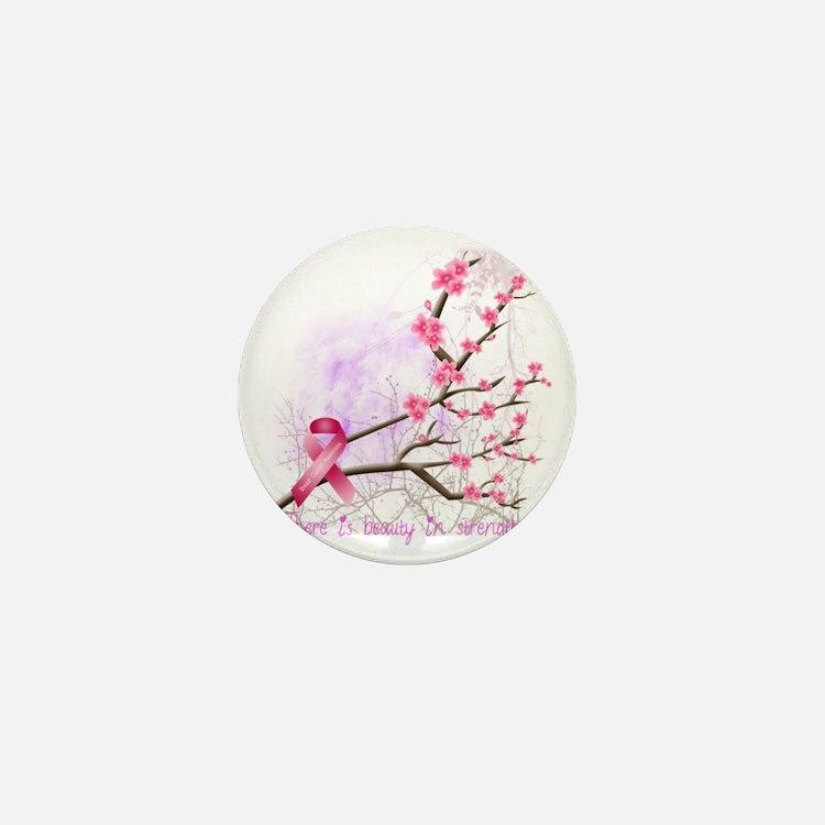 cherryblossom-dark Mini Button