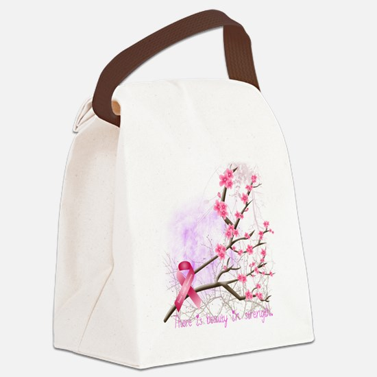cherryblossom-dark Canvas Lunch Bag