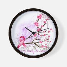 cherryblossom-dark Wall Clock