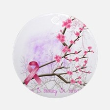 cherryblossom-dark Round Ornament