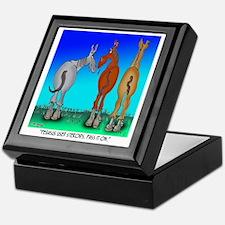 5099_horse_cartoon Keepsake Box