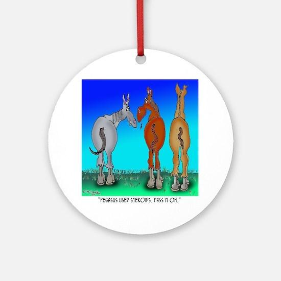 5099_horse_cartoon Round Ornament
