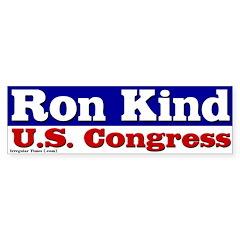 Re-elect Ron Kind Congress Bumper Bumper Sticker