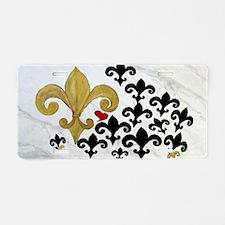 Black  gold Fleur de lis pa Aluminum License Plate