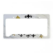 Black  gold Fleur de lis part License Plate Holder