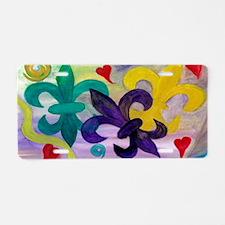 Mardi Gras Fleur de lis Aluminum License Plate