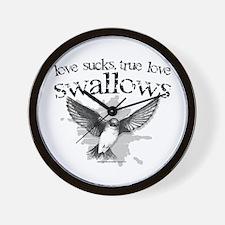 True Love Swallows Wall Clock