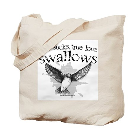 True Love Swallows Tote Bag