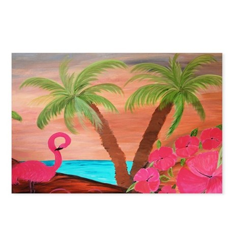 Flamingo Beach Postcards (Package of 8)