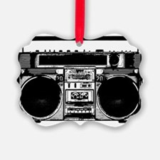 boomboxWHITE Ornament